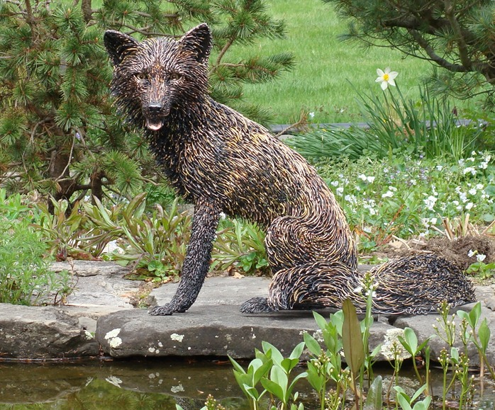 "Life sized ""Red Fox"" by Robert Alan Hyde"